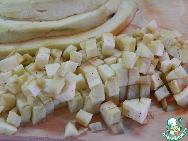 Домашний рецепт с фотографиями Закуска из жареных баклажанов, нута и свеклы #2