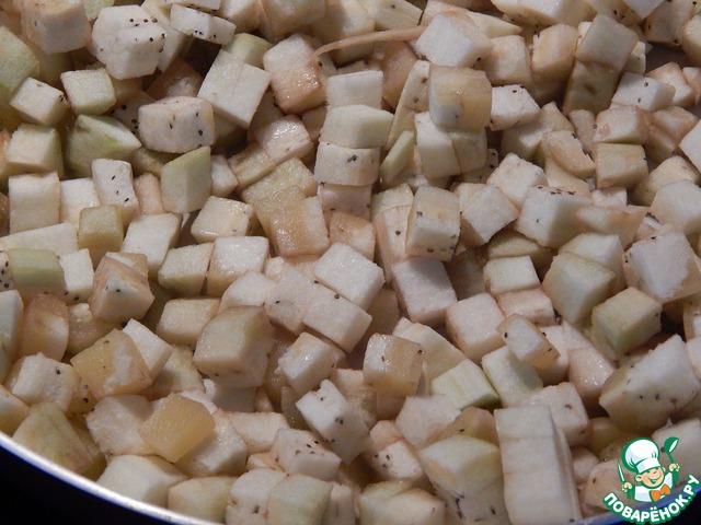 Домашний рецепт с фотографиями Закуска из жареных баклажанов, нута и свеклы #3