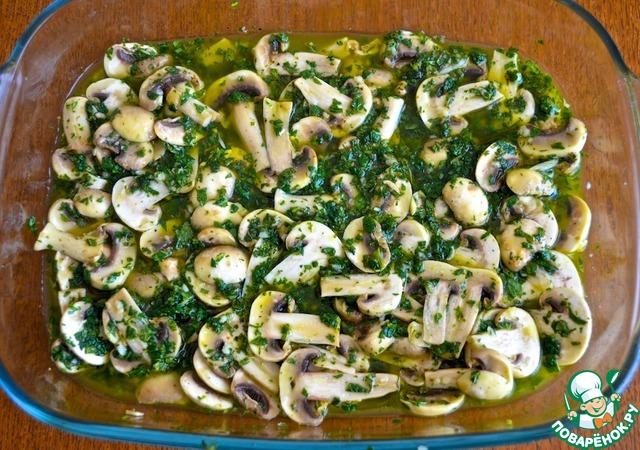 Готовим Салат со свежемаринованными грибами вкусный рецепт с фото пошагово #5