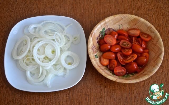 Готовим Салат со свежемаринованными грибами вкусный рецепт с фото пошагово #6