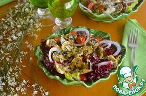 Рецепт Салат со свежемаринованными грибами
