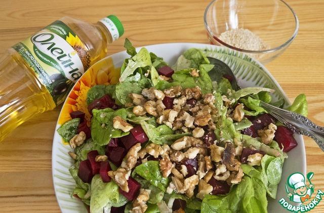 Салат из запеченной свеклы с брынзой простой рецепт с фото пошагово как приготовить #5