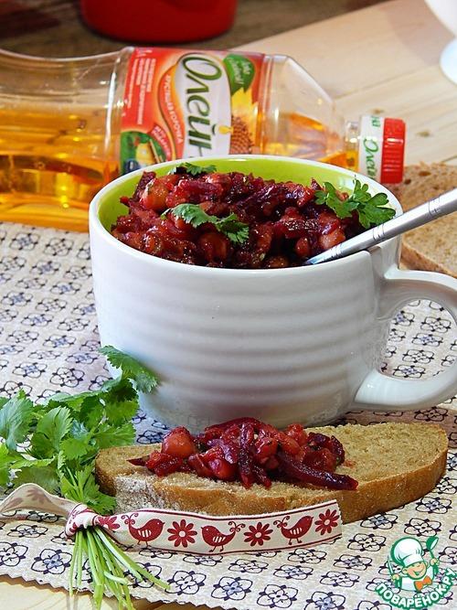 Домашний рецепт с фотографиями Закуска из жареных баклажанов, нута и свеклы #8