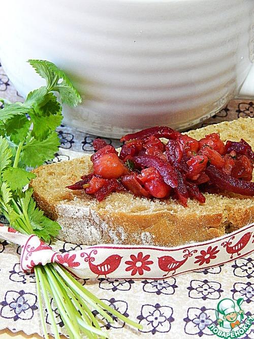 Домашний рецепт с фотографиями Закуска из жареных баклажанов, нута и свеклы #9