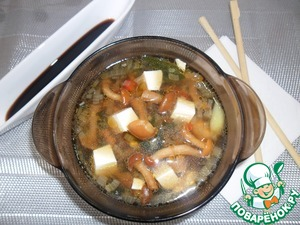 Рецепт Мисо-суп с опятами