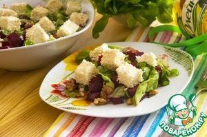 Рецепт Салат из запеченной свеклы с брынзой