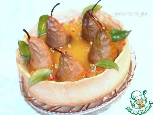Пирог «Груши в хрустале» рецепт с фотографиями #18