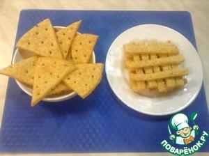 Как приготовить Сырные крекеры простой рецепт приготовления с фотографиями
