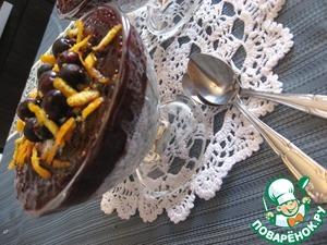 Рецепт Маковый десерт с черносмородиновым топингом