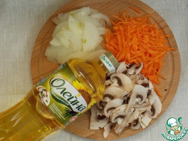 Теплый салат с кальмарами и грибами пошаговый рецепт с фото как приготовить #2
