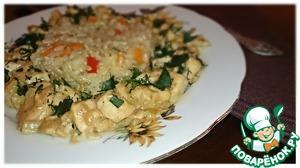Курица с гарниром из коричневого риса вкусный рецепт с фото пошагово