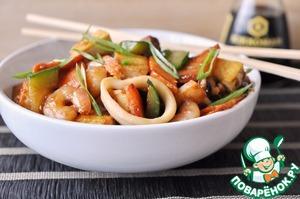 Рецепт Тофу с морепродуктами по-китайски
