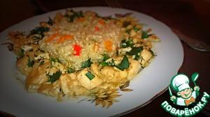 Рецепт Курица с гарниром из коричневого риса