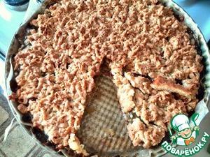 Рецепт Тёртый пирог с вареньем из киви
