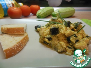 Рецепт Сливочная баклажанная курица