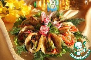 Рецепт Картофельные лепешки с салатом