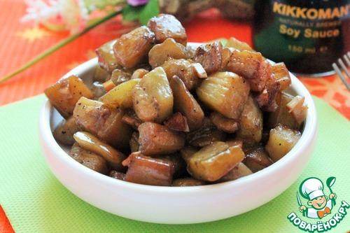 Готовим рецепт приготовления с фотографиями Адобо из баклажанов #12