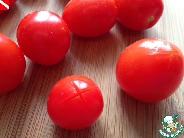 Как готовить Маринованные помидорки черри домашний рецепт приготовления с фото #2