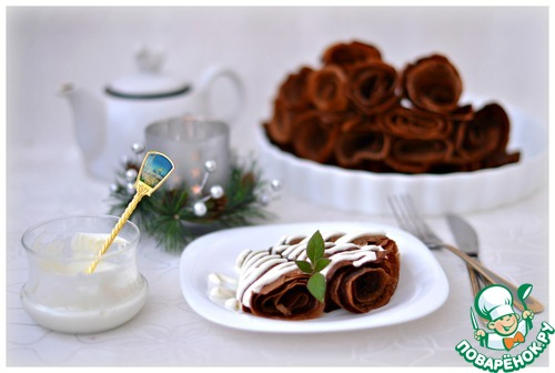Как приготовить Тоненькие шоколадные блинчики вкусный рецепт с фотографиями #8