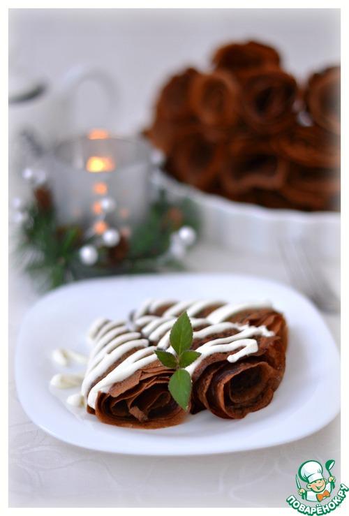 Как приготовить Тоненькие шоколадные блинчики вкусный рецепт с фотографиями #9