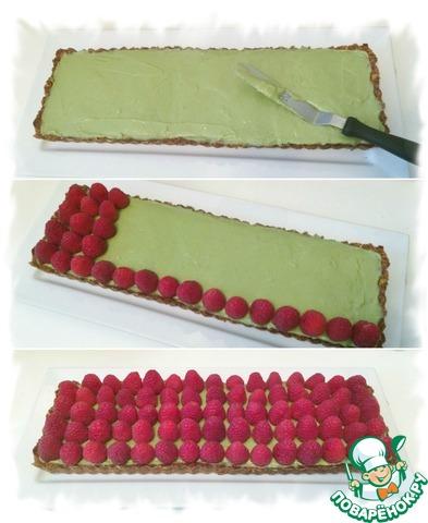 Готовим Матча-малиновый тарт домашний пошаговый рецепт с фото #9