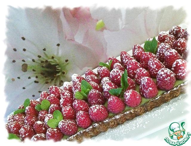 Готовим Матча-малиновый тарт домашний пошаговый рецепт с фото #10