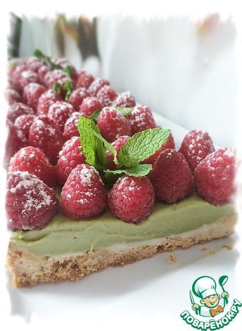 Готовим Матча-малиновый тарт домашний пошаговый рецепт с фото #12