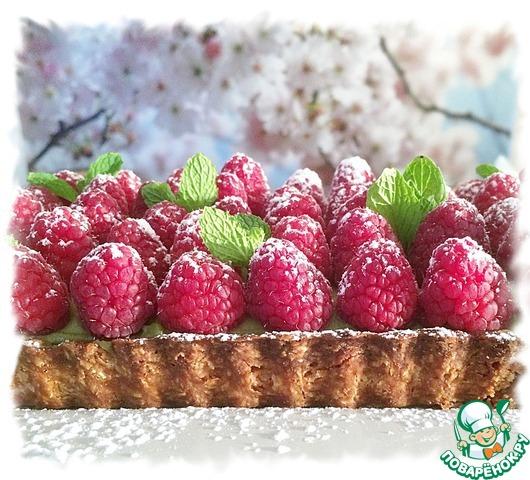 Готовим Матча-малиновый тарт домашний пошаговый рецепт с фото #13