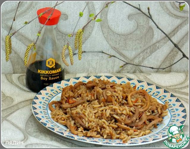 Плов с кальмарами рецепт приготовления с фотографиями пошагово как приготовить #5