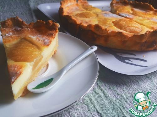 Как приготовить простой рецепт с фото Грушево-лимонный заливной тарт #5