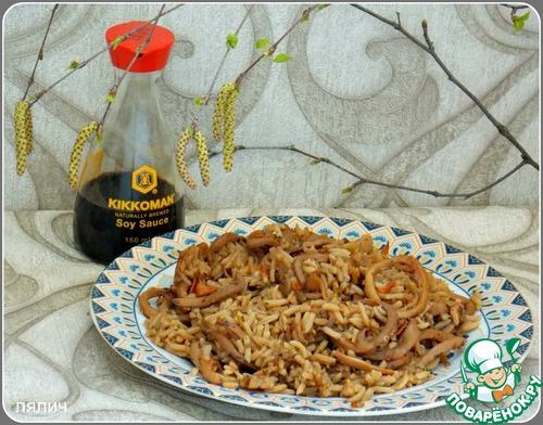 Плов с кальмарами рецепт приготовления с фотографиями пошагово как приготовить #8