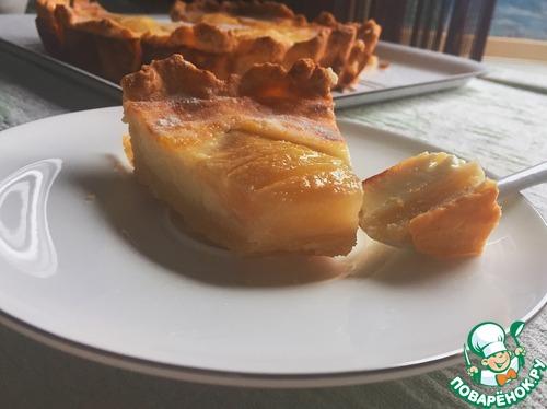 Как приготовить простой рецепт с фото Грушево-лимонный заливной тарт #7