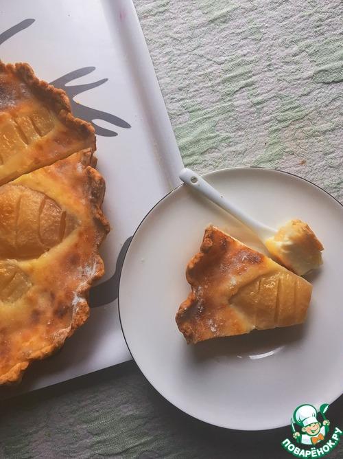 Как приготовить простой рецепт с фото Грушево-лимонный заливной тарт #6