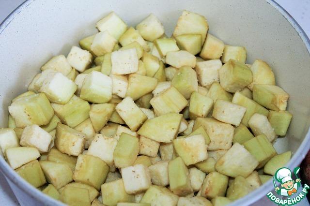 Готовим рецепт приготовления с фотографиями Адобо из баклажанов #3