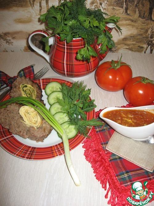 """Мясной рулет с яичным """"пропеллером"""" домашний рецепт с фотографиями как готовить #12"""