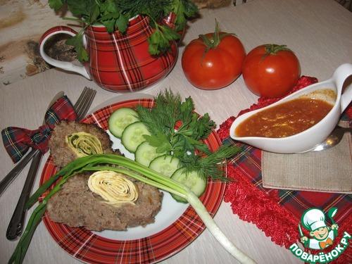 """Мясной рулет с яичным """"пропеллером"""" домашний рецепт с фотографиями как готовить #11"""