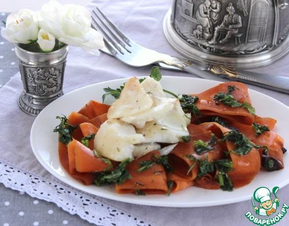 Теплый салат с филе трески домашний рецепт с фото как готовить #9