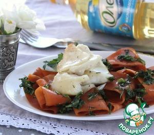 Теплый салат с филе трески домашний рецепт с фото как готовить