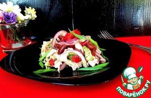 Салат с курицей и овощами рецепт приготовления с фотографиями