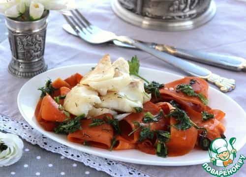 Теплый салат с филе трески домашний рецепт с фото как готовить #11