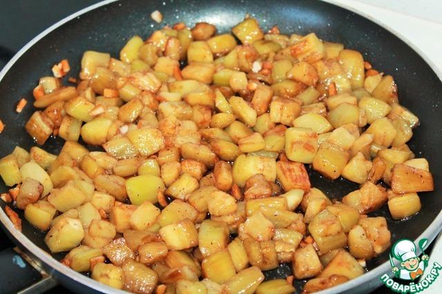 Готовим рецепт приготовления с фотографиями Адобо из баклажанов #10