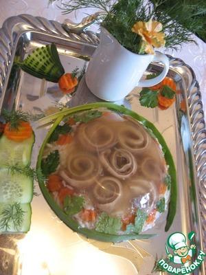 Уши заливные с рисом простой рецепт приготовления с фотографиями пошагово готовим