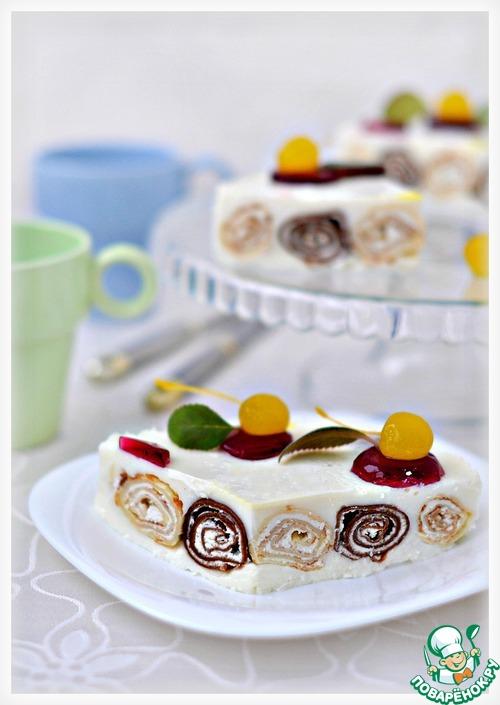 Как приготовить Блинный десерт с кремом из маскарпоне домашний рецепт приготовления с фотографиями #17
