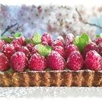 Матча-малиновый тарт