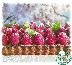 Рецепт Матча-малиновый тарт