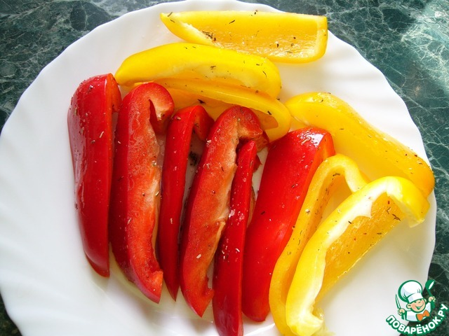 Как приготовить Куриная грудка, запечённая в соусе с перцем вкусный рецепт с фотографиями #6