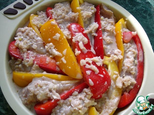 Как приготовить Куриная грудка, запечённая в соусе с перцем вкусный рецепт с фотографиями #9