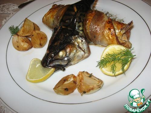 Скумбрия в сладком маринаде с печеным луком домашний рецепт с фото пошагово как готовить #15
