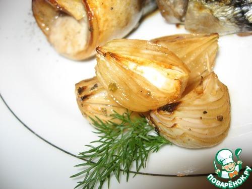Скумбрия в сладком маринаде с печеным луком домашний рецепт с фото пошагово как готовить #13