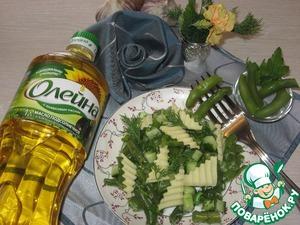 Рецепт Салат со стручковой фасолью и сыром